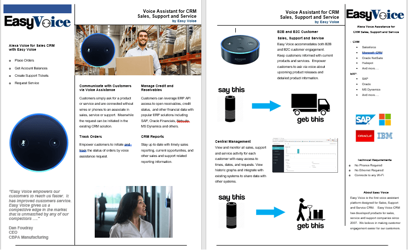 Alexa for Business CRM