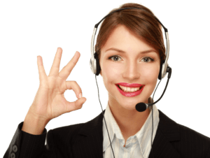 Customer-service-woman-on-headset-gives-OK3